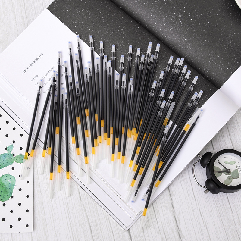 10Pcs/Set Office <font><b>Gel</b></font> <font><b>Pen</b></font> Erasable <font><b>Refill</b></font> Rod Magic Erasable <font><b>Pen</b></font> <font><b>Refill</b></font> <font><b>0.38</b></font> mm Black Ink School Stationery Writing Tool Gift image