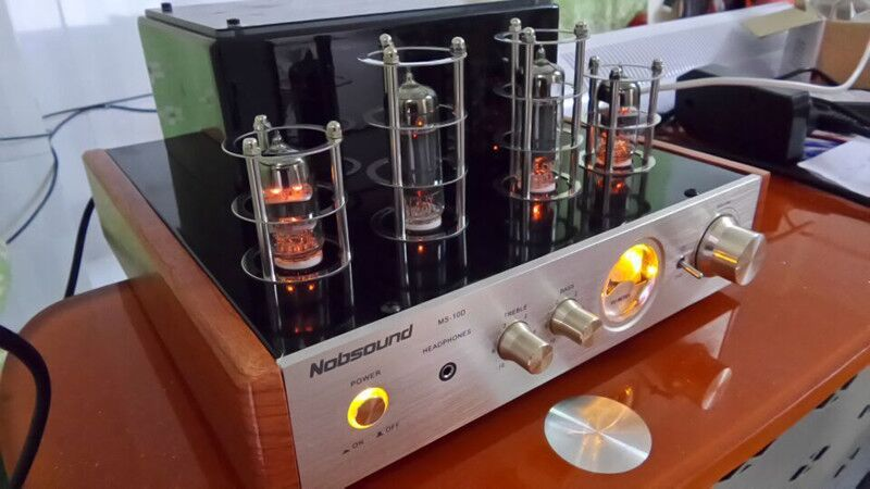 Output power 25W+25W Nobsound Ms-10d Tube Amplifier Class A tube amp amplifier HIFI Power Amplifier (Common classic version)