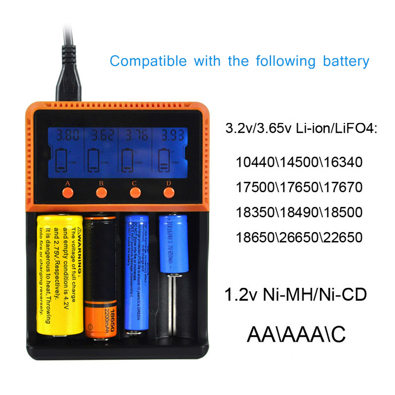 New Smart Battery Charger With Display Charging for Ni-MH CD Li-ion AA AAA 18650 26650 16340 Rechargeable Batteries GDeals