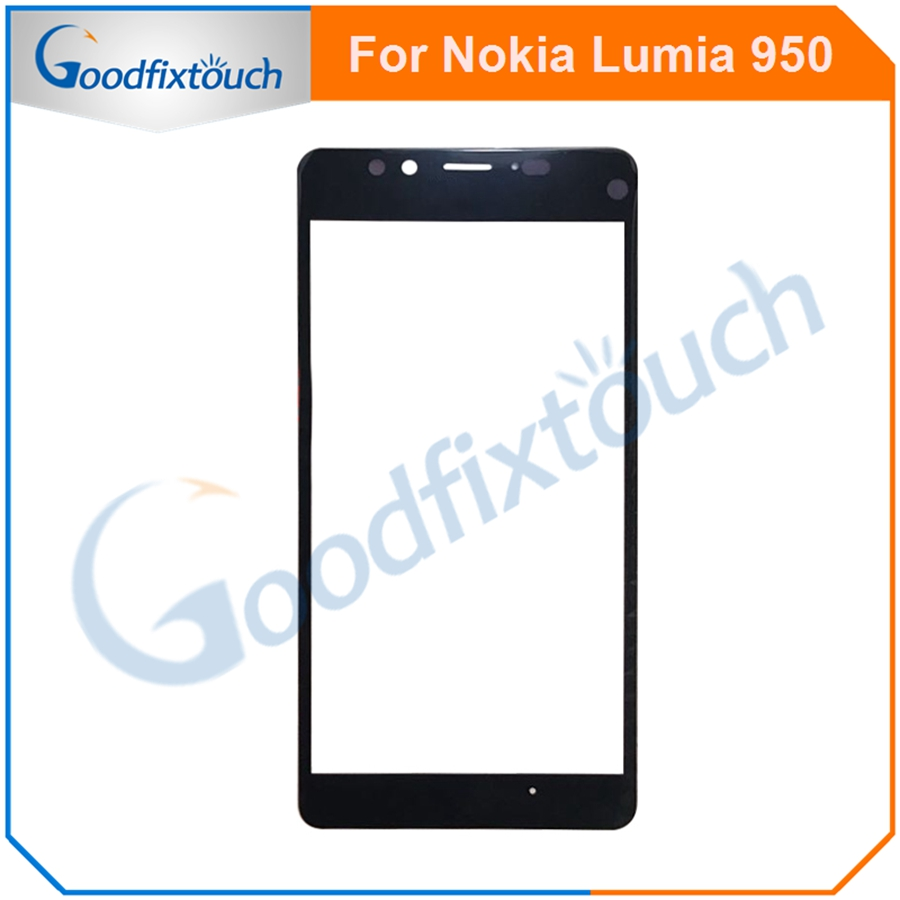 1PC For Nokia <font><b>Lumia</b></font> <font><b>950</b></font> Touch Screen Sensor Front Glass Lens Panel High Quality Replacement <font><b>Parts</b></font> image