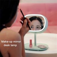 Creative Make up Mirror Desk Lamps Lover Girls Gift Night Lights Bedroom Dresser Lighting Multifunctional LED Dimmer Table Lamp