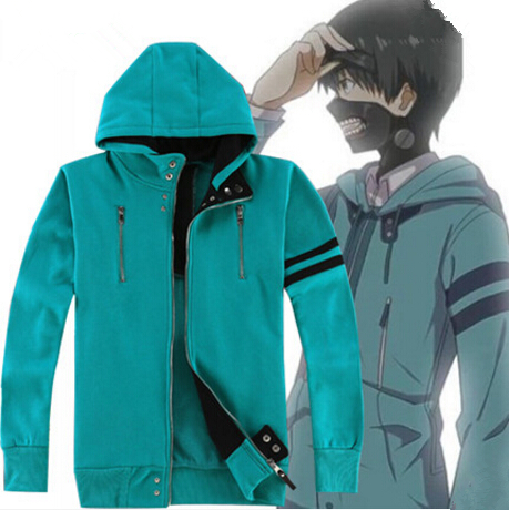 Anime Tokyo Ghoul Kaneki Ken Cosplay Costume 1:1 Unisex Hoodie Sweatshirt Hooded Sweat Shirts Coat Jacket