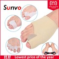 Sunvo 5pcs/sets Hallux Valgus Orthotics Gel Stretch Nylon Pad Silicone Separators for Corrective Overlapping Toes Care Inserts