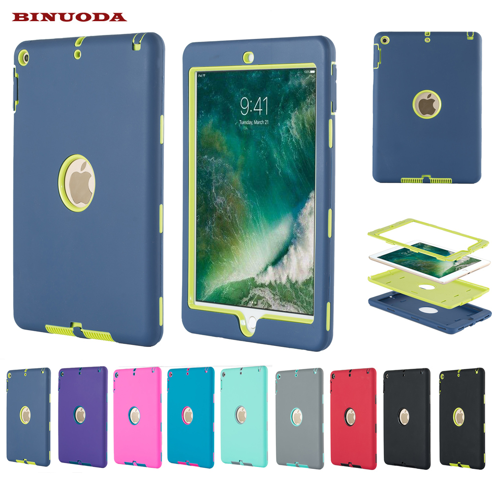 Kid Safe Case for New iPad 9.7 2017 Released Durable Heavy Duty 3 in 1 Hybrid Rugged Case Shockproof Cover Capa for New iPad 9.7