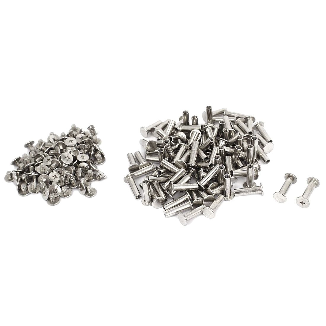 100 set Scrapbook Nickel Plated 5mmx18mm Binding Screw Post диски helo he844 chrome plated r20