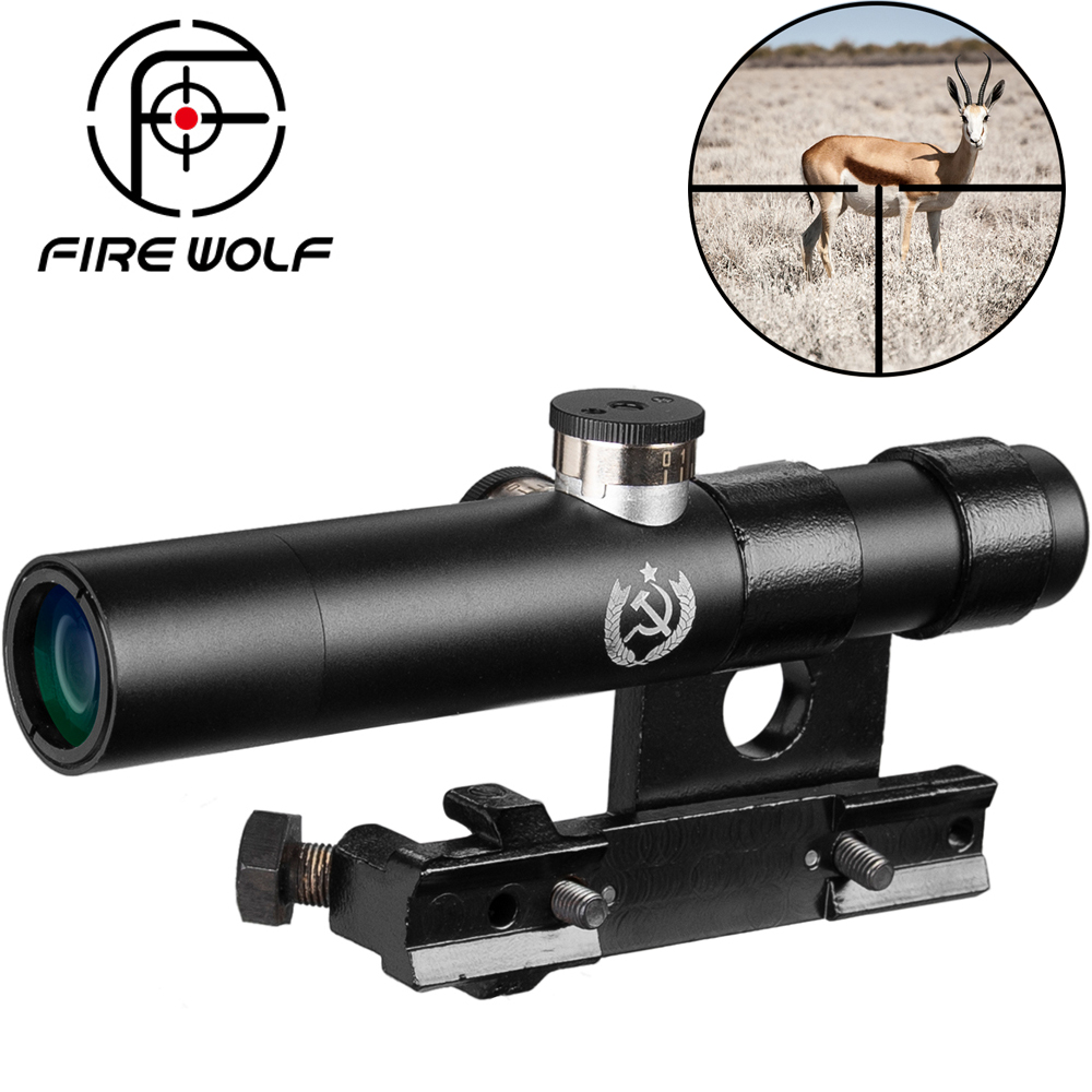 Fire Wolf Svt 40 portée 3.5x lentilles multicouches 3.5x antichoc multi couches antichoc pour Mosin Nagant portée de fusil Riser-in Viseurs De Fusil from Sports et Loisirs on AliExpress