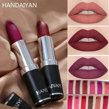 HANDAIYAN Long Lasting Matte Lipstick Red Soft Lip Cream Waterproof Mate Make Up Stick Nude Brand