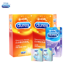 durex adult game natural latex condoms ribbed and dotted extra sensitivity large size bumps spike condom for men high quality Durex XXL size Condoms Natural latex Penis Enlargement Ribbed and Dotted  Large Condoms Warming Lube for Men Sex toys Goods