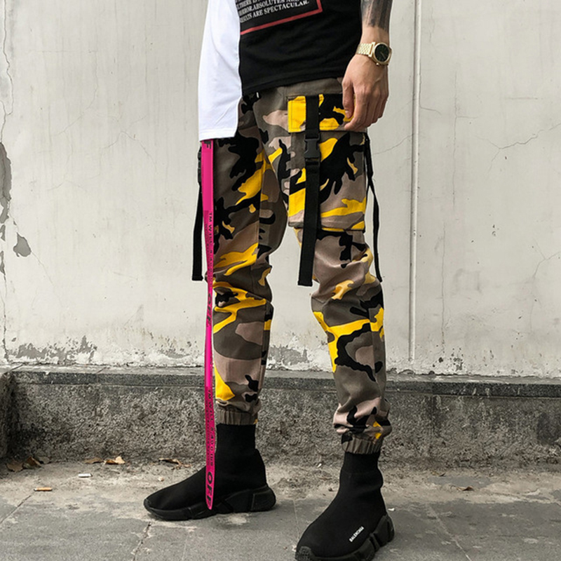 Summer New Camouflage Casual Camo Pants Men Hip hop Streetwear Elasticity Slim Fashion Sweatpants Man Tide Tooling Trousers Male