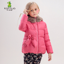 KAMIWA 2017 Baby Girl Winter Coats And Jackets Down Duck Coat Thicken Hooded Kids Children's clothing Cotton-padded Parkas