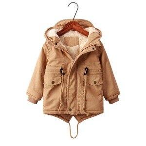 Image 3 - ボーイズ冬のジャケット十代子羊カシミヤウインドブレーカー赤ちゃんカジュアル服子供トップス 2 9 T 厚みのフード付きベルベットジャケットコート