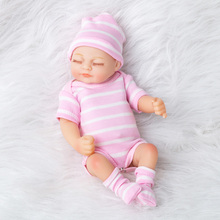 Bebes Reborn Doll 26cm New Handmade Silicone Reborn Baby Adorable Lifelike Toddler Bonecas Girl Kid Menina De Silicone Lol Doll