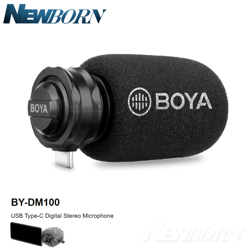 BOYA BY DM100 Digital Condenser Stereo Microphone for Android Huawei SAMSUNG Galaxy s9 s9 USB Type