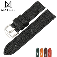 MAIKES 20 22 24 26mm Watch Accessories Watch Band For FOSSIL LUMINOX HAMILTON Genuine Leather Strap