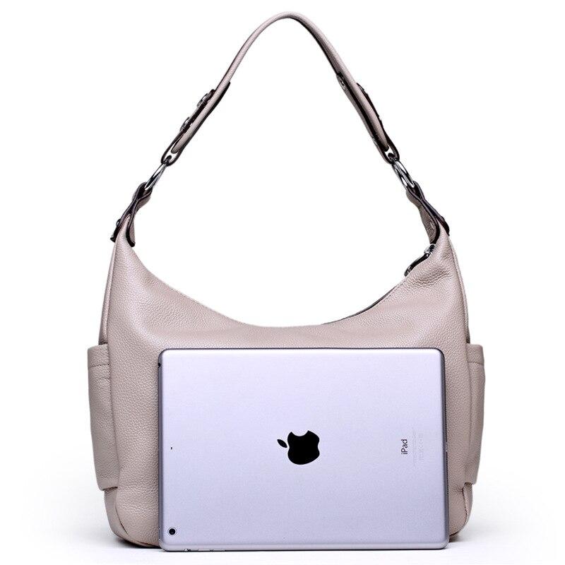 Big Size Women Genuine Leather Handbags Luxury Hobos Women Messenger Bags Shoulder Bag Cow Leather Tote Bag