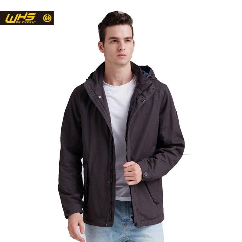 WHS New Autumn Outdoor Men cotton Jacket Climbing jackets Autumn thin Warm Coat Outdoor Sportswear windproof clothes