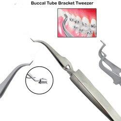 1Pcs Ortho Bracket Tweezer Buccal Tubes Placing Direct Bond Brackets Reverse Action