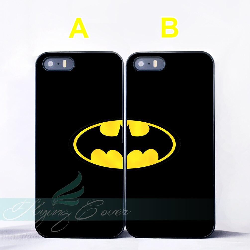 Coque Black Hero Batman Best Friend BFF Couple Cases for iPhone X 8 7 6 6S 7 Plus SE 5S 5C 5 4S 4 Case for iPod Touch 6 5 Cover.