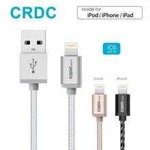 CRDC Nylon Braid Lightning to USB Cable (1.2m) for iPhone 7 Plus 6/6s 5s, iPad Pro Air 2, iPad mini 4 iPod [Apple MFi Certified]