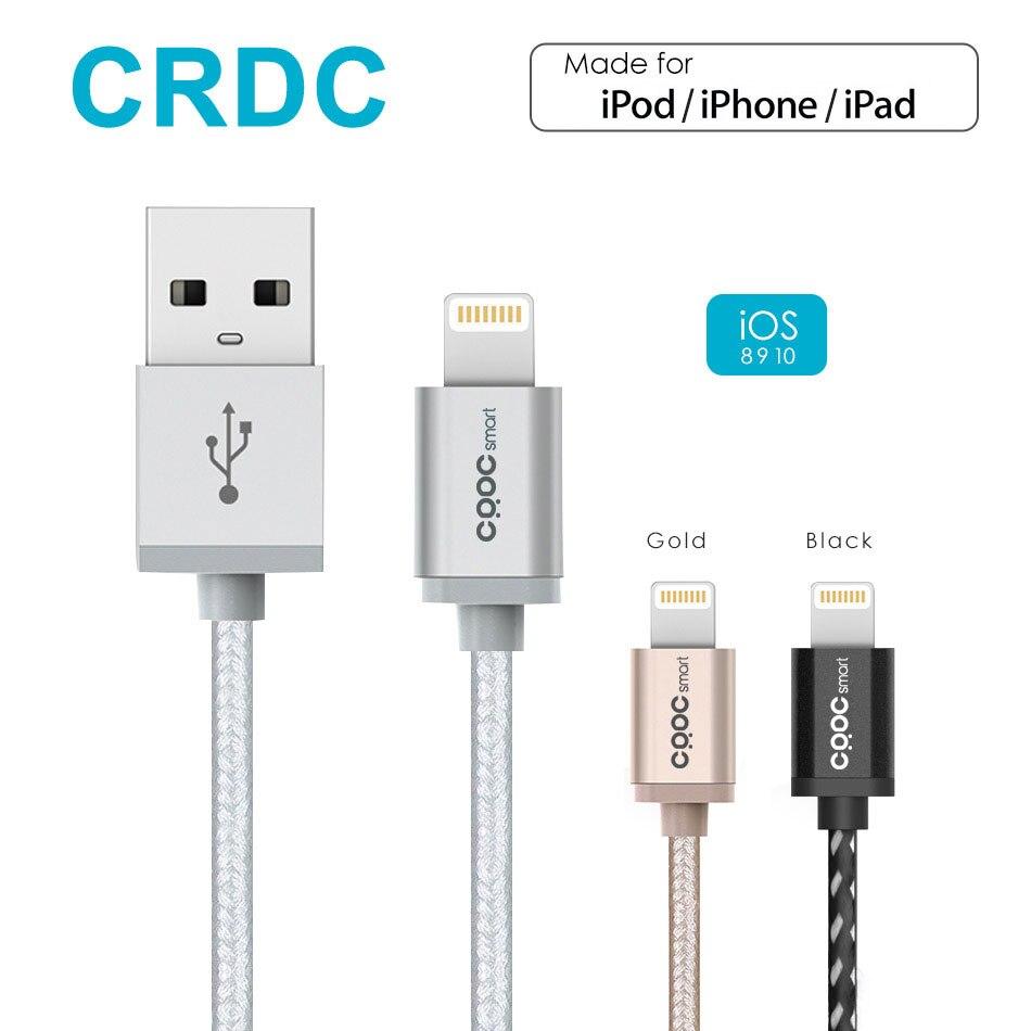 CRDC Nylon Geflecht Blitz zu USB Kabel (1,2 mt) für iPhone 7 Plus 6/6 s 5 s, iPad Pro Air 2, iPad mini 4 iPod [Apple MFi Zertifiziert]