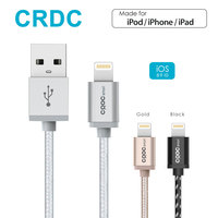 CRDC Nylon Vlecht Bliksem naar Usb-kabel (1.2 m) voor iPhone 7 Plus 6/6 s 5 s, iPad Pro Air 2, iPad mini 4 iPod [Apple MFi Gecertificeerd]