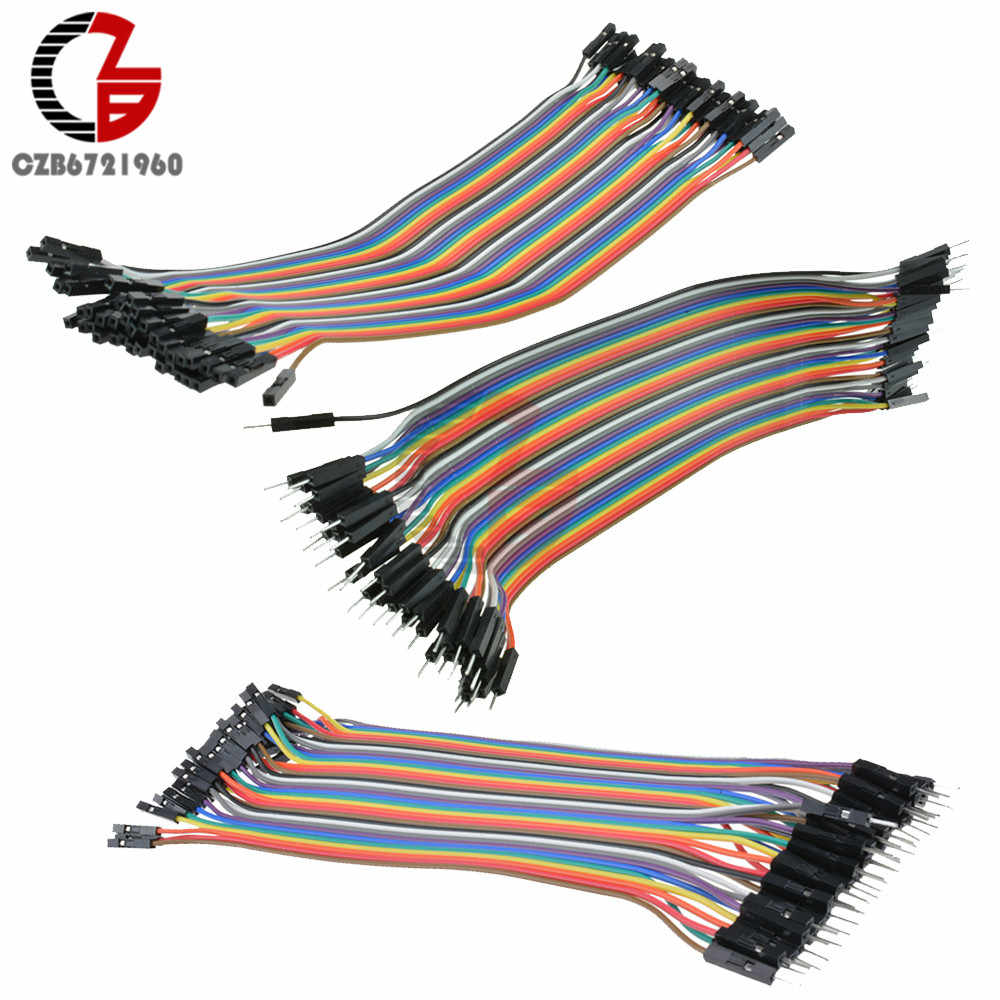10CM 20CM 40Pin Dupont Cable Male to Male / Male to Female / Female to Female Dupont Line Dupont Wire for Arduino DKY Kit