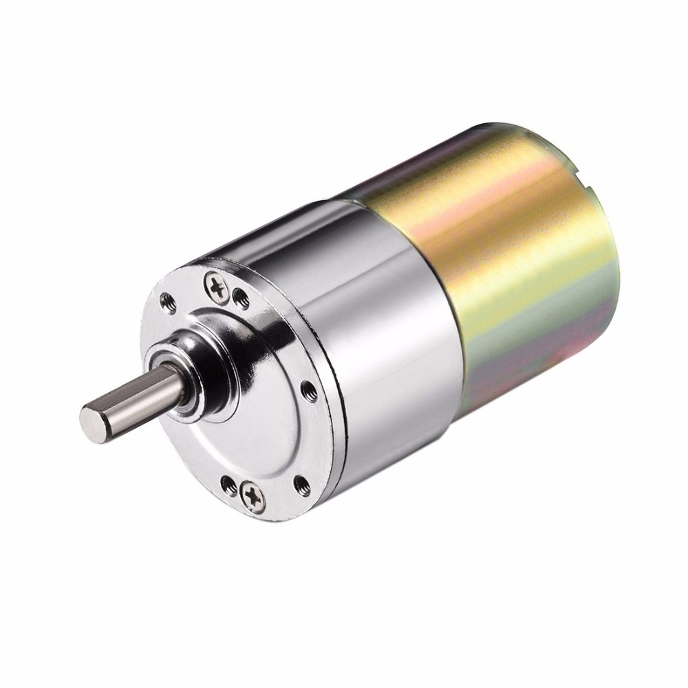 ZGB37RG 100RPM DC 24V DC 12V 12V DC 1500 RPM Gear Motor High Torque Electric Reduction Gearbox Eccentric Output Shaft 120RMP zgb37rg dc 12v 37mm cylindrical 5rpm output speed dc geare motor diy robot