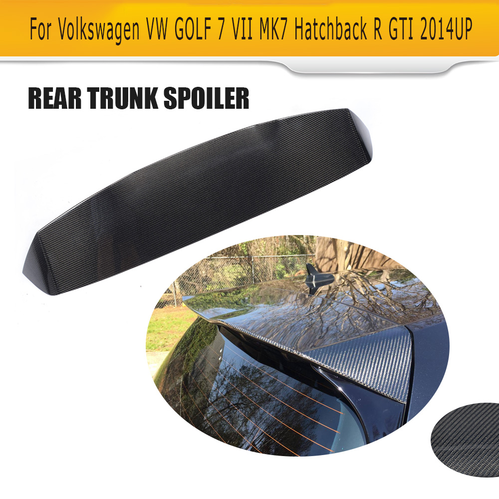 Carbon Fiber Car Rear Roof Spoiler Lip Wing For Volkswagen VW GOLF 7 VII GTI And R Hatchback Not Standard 2014-2017