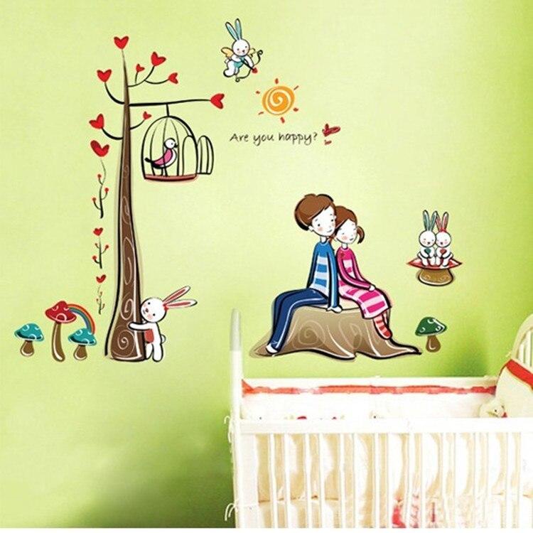 Amour couple papier peint promotion achetez des amour for Chambre couple romantique