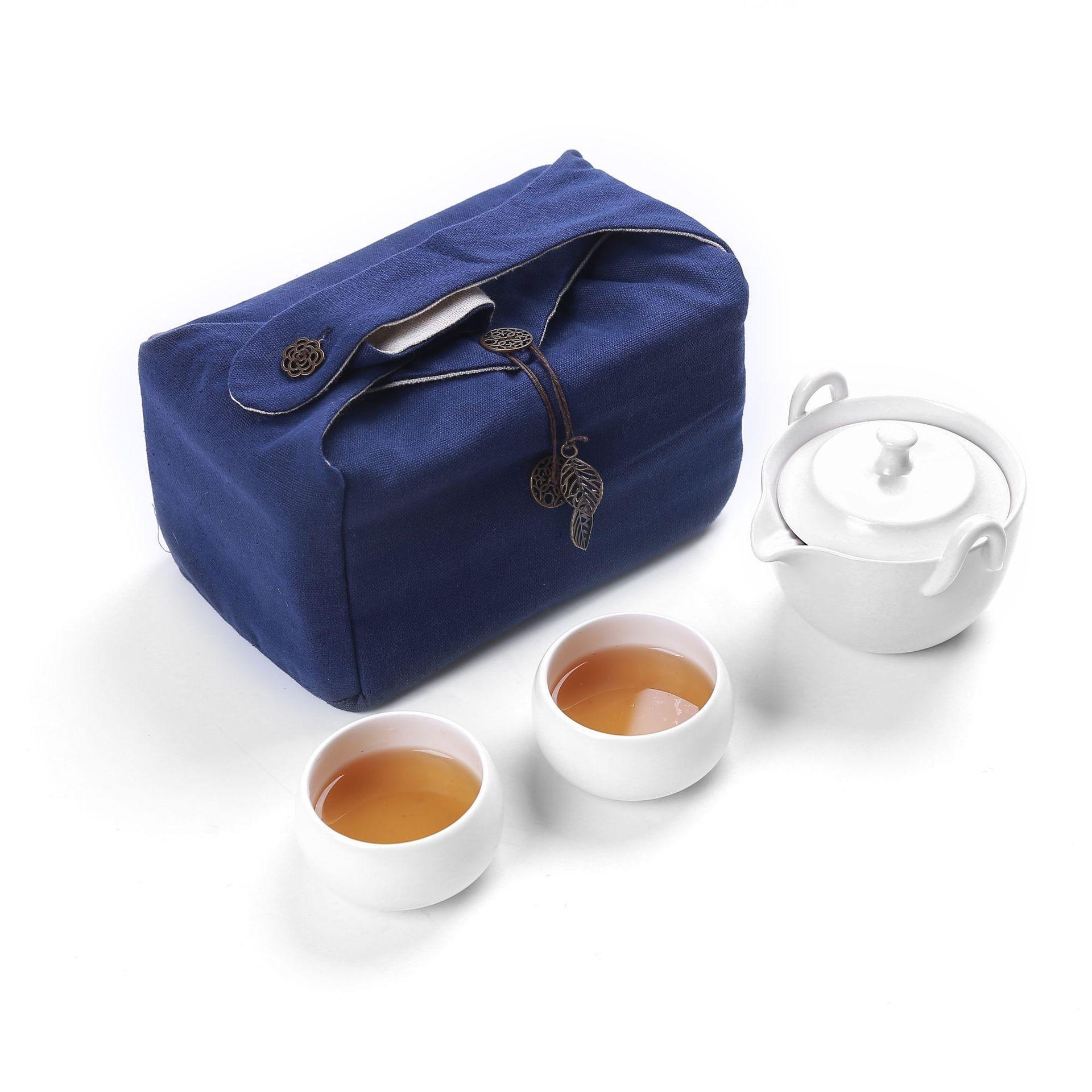 Drinkware Coffee Tea Sets Ceramic Gaiwan Teapot Kettle Teacup Porcelain Portable Travel Tea Set Chinese Kung Fu Tea Set