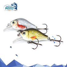 Купить с кэшбэком 1 PCS Fishing Lure Crankbait  Artificial Hard Lure Mini 45mm 8.6g Minnow Crank Bait Fishing Topwater Wobblers Minnow Fish Lures
