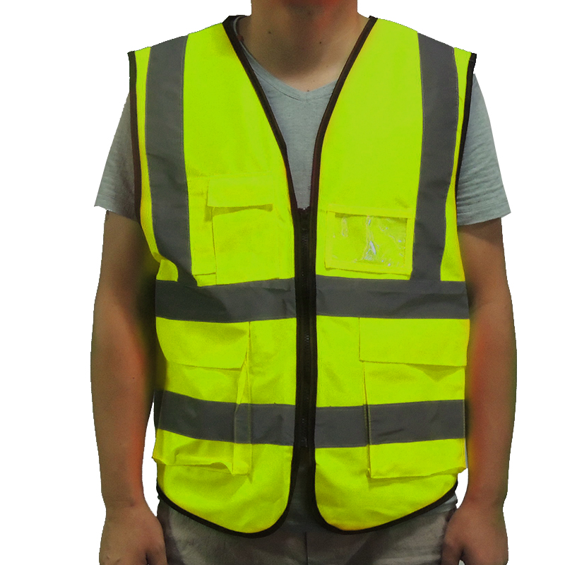 Working safety yellow vests fast shipping reflective safety vest multi pockets security protective suit outdoor team running Working safety yellow vests fast shipping reflective safety vest multi pockets security protective suit outdoor team running