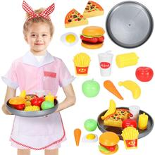 Waitress Costume Kids Cosplay Props Suit Fast Food Restaurant Role Play Fancy Dress Pretend Game for Toddlers