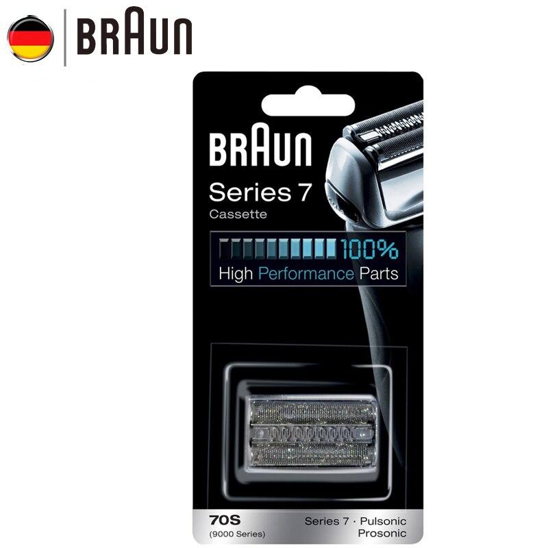 Braun Barbeador Elétrico Navalha Cassete de Substituição 70 S para a Série 7 Barbeadores (720 760cc 790cc 9595 9781)