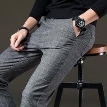 Cotton Plaid Straight Pants Men RK
