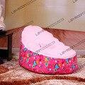 FRETE GRÁTIS saco de feijão bebê com 2 pcs rosa brilhante para cima da tampa assento do bebê beanbag cadeira de bebê tampa do saco de feijão cobre apenas