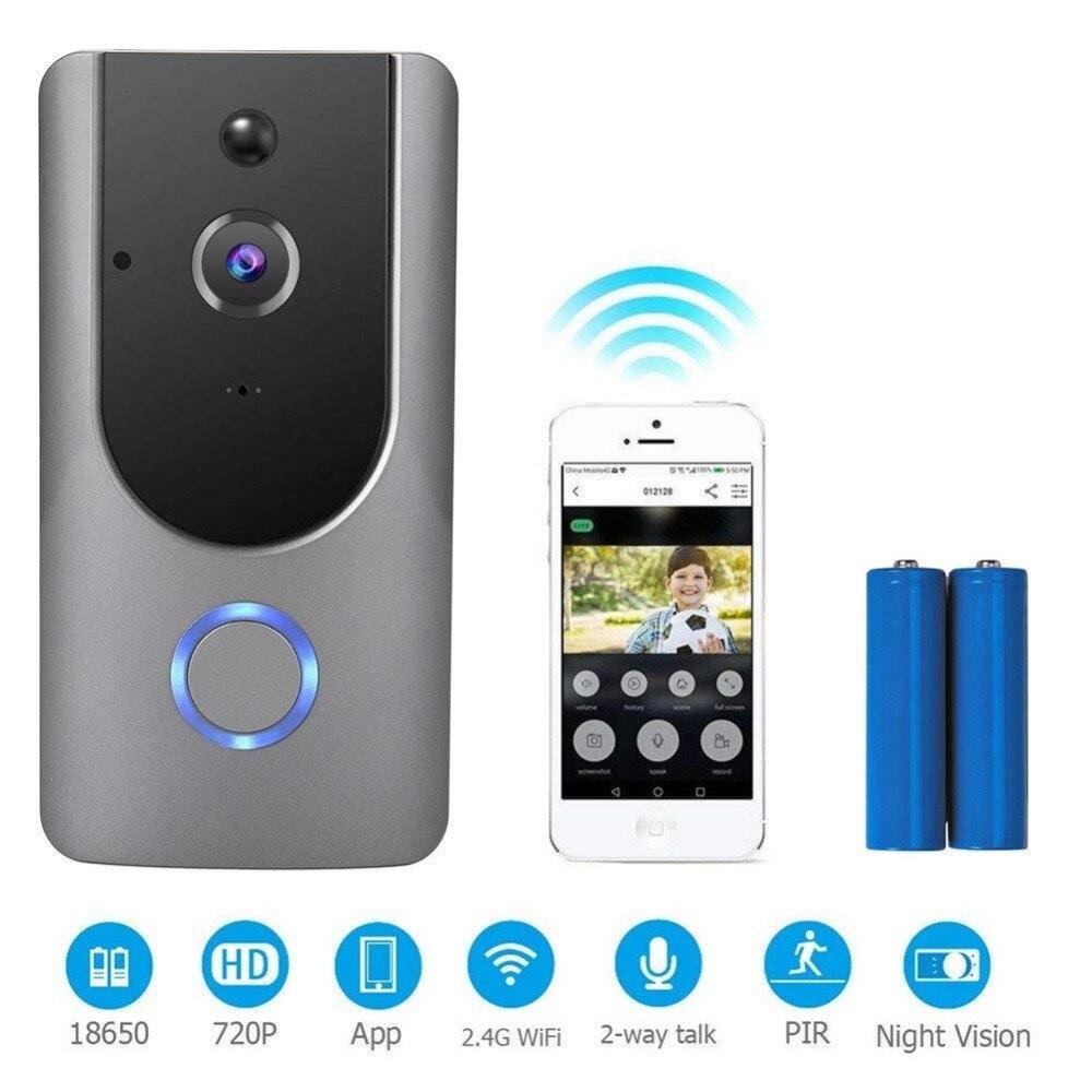 Yobang Sécurité APP Contrôle Batterie Propulsé Sans Fil WiFi Vidéo Sonnette IP Caméra Visuelle Porte Téléphone Carillon Deux Voies Audio Doobell