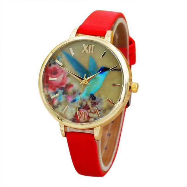 Watches OTOKY Blue Hummingbird Women Leather Quartz Ladies Women Wrist Watch relogio feminino Drop Shipping Aug-22