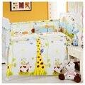 Com Filler HOT 6 - 7 pçs/sets fundamento do bebê crib set 100% algodão crib bumper berço conjuntos de cama de bebê bumper frete grátis