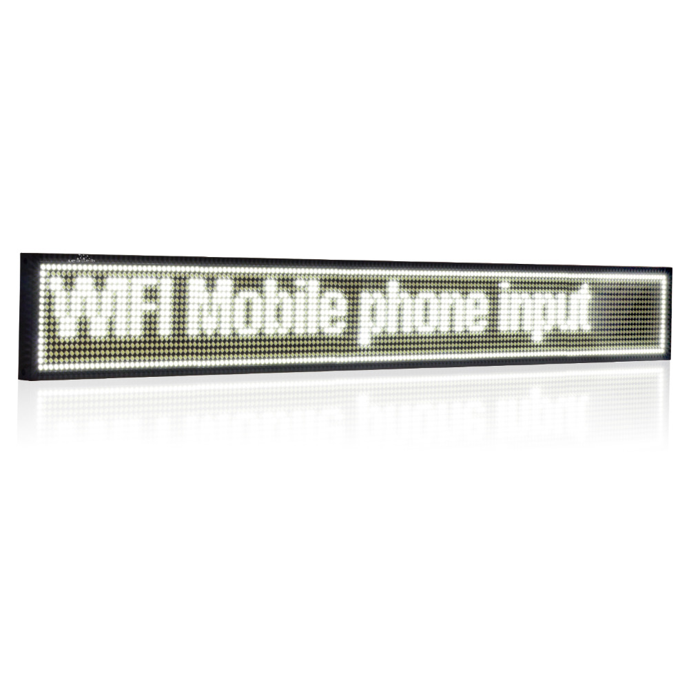 27-in Android white WIFI  LED Sign wireless programmable rolling information P5  Advertising  Indoor led display screen