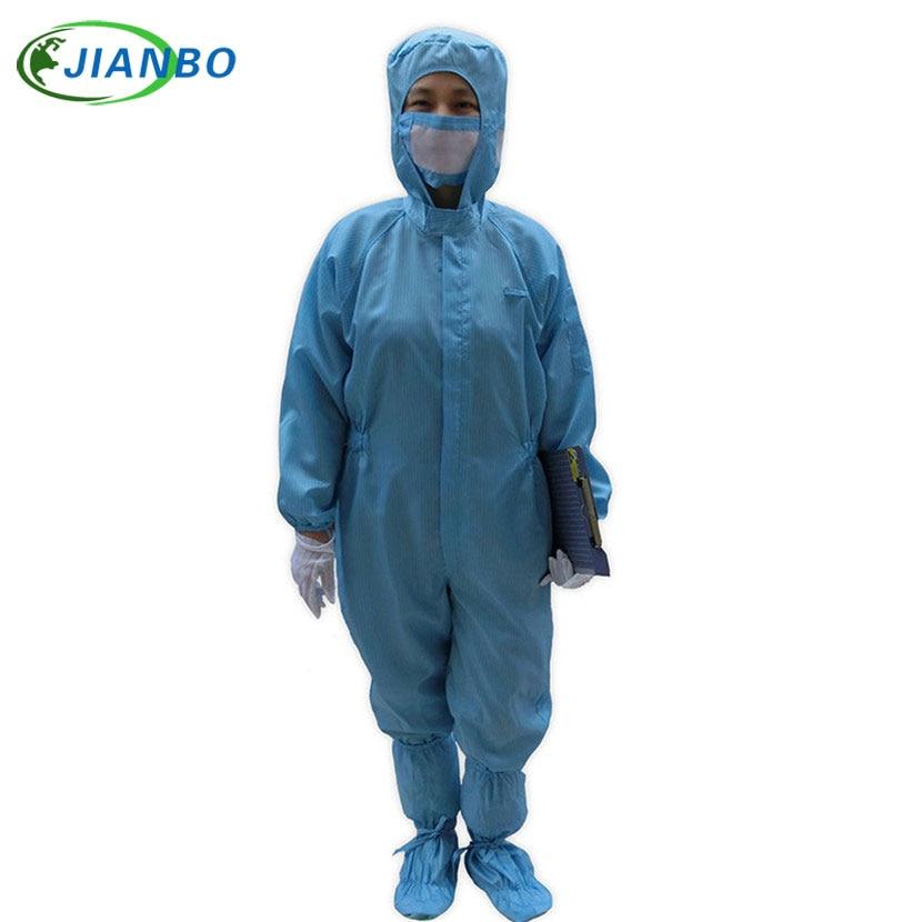 Anti Static font b Clothing b font Clean Room Dustproof Jumpsuit Garment Can Permanent Cleaning 100