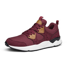 Autumn Men's Running Shoes for Men Sneakers Outdoor 2018 AIR Mesh Anti-slip Lightweight Leather Stitching Jogging Trainer Shoes