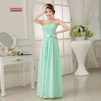 JaneyGao Bridesmaid Dresses 2019 Elegant Cheap Chiffon Party Gowns Long Mint Green Formal Women Dresses for Wedding Party