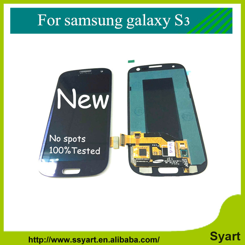 S3 i9300 Blue Screen 10PCS For Samsung Galaxy S3 i9300 i9305 i535 i747 L710 T999 LCD Display Touch Digitizer Assembly Free DHL