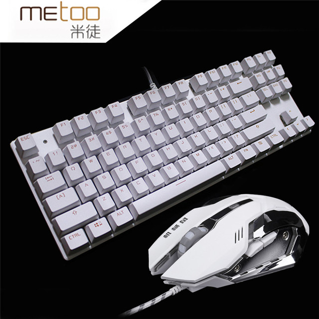 Mechanical Keyboard+Mouse combo set 3200DPI gaming light Russia stickers 4