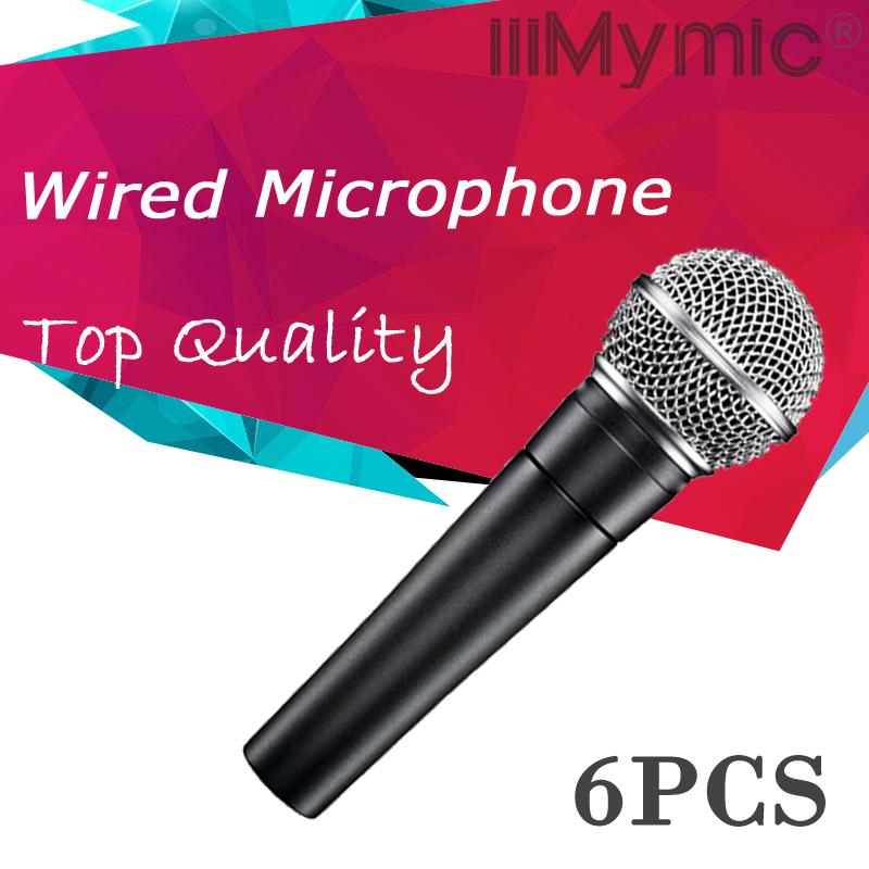 Prix pour Réel Transformateur À L'intérieur!! 6 PCS Top Qualité De Poche Filaire Dynamique Cardioïde Microphone Vocal Microfone Mike