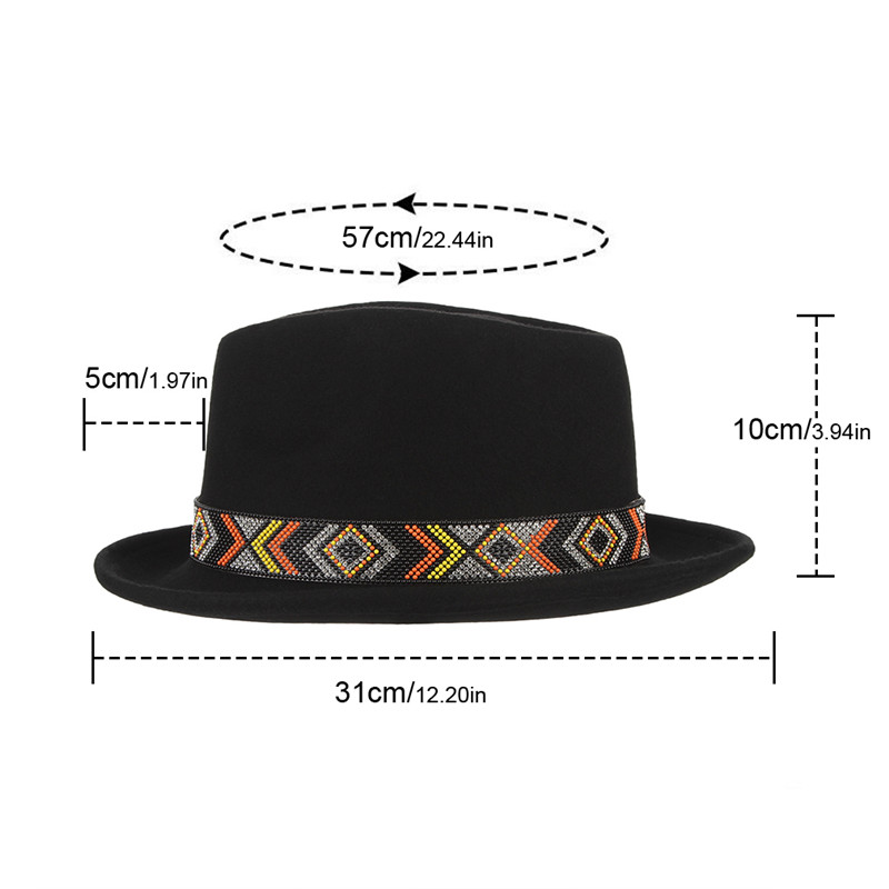 854ae6e4626fe Fashion Fedoras Wool Felt Hat Classical Jazz Cap for Men Women Rhinestone  Belt Decor Narrow Curved Brim Hat Top Hat With Box-in Fedoras from Apparel  ...