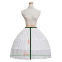 Gelin Düğün Kısa Balo Elbise Petticoat Çelik 2 Çemberler 25.5 ''-17.7 ''/65-110 cm artı Boyutu Büyük Beyaz Kemik Kabarık Etek Pannier