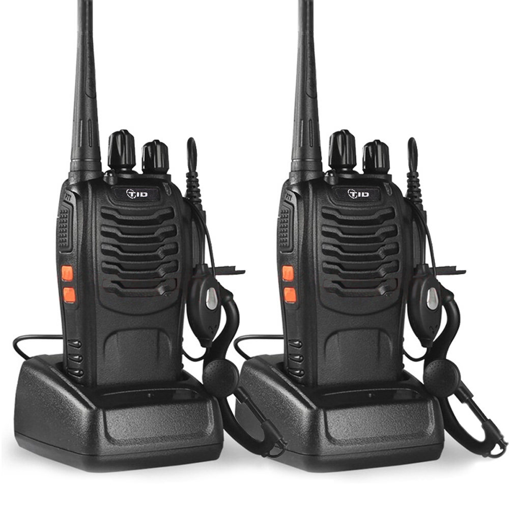 2pcs Walkie Talkie TD-V2 CB Radio UHF 400-470MHz Radio Amateur Portable Walkie Talkie Transceiver Portable Radio For Hunting