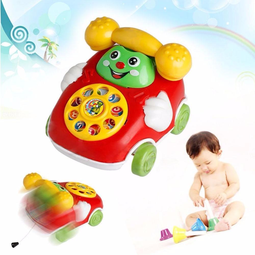 1pc  Baby Toys Music Cartoon Phone Educational Developmental Kids Toy Gifts